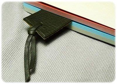 [Rosechild] 日本購入 義大利高級皮革 天然植物鞣製皮革書簽 優質文具bookmark