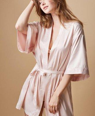絲綢夏浴袍晨袍浴衣日式和風薄款仿真絲睡衣家居服睡袍女