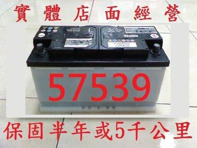 保固半年或5千公里 歐規中古汽車電池 57539 = 57531 = 57412 =75AH =DIN75 二手汽車電池