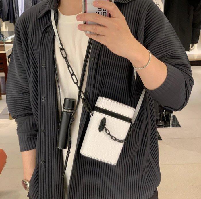 Louis Vuitton M68791 LV Phone Box 小型鍊帶硬箱 白