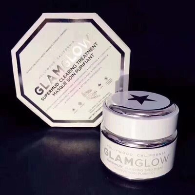 GlamGlow SuperMud白罐潔淨面膜 50g