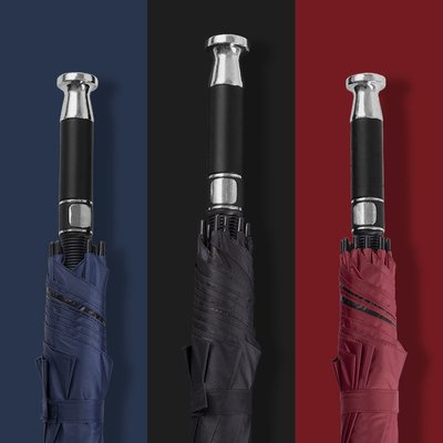 雨傘勞斯萊斯自動雨傘男加大號加固加厚雙人三人黑色長柄超大直桿商務雨衣