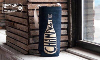 GOODFORIT / 紐約MAPTOTE Denim Champagne Tote單寧香檳紅白酒托特包