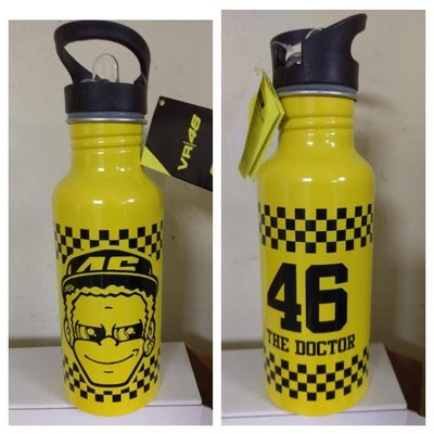 Rossi ahead bottle aluminum 金屬 水壺 羅西 大臉 黃色 rossi vr46 擺設 收藏 羅西小舖