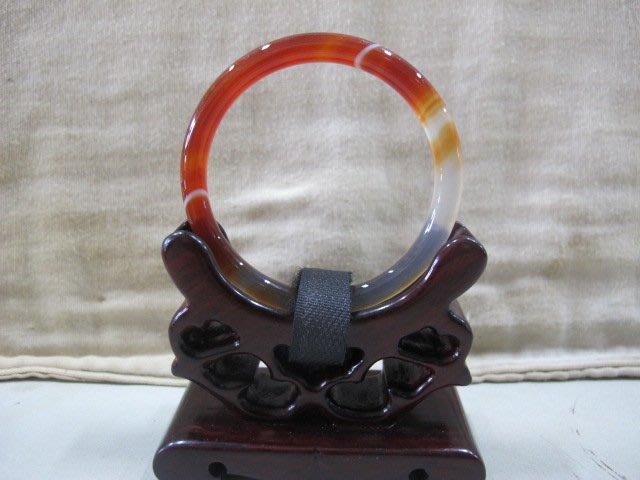 二手舖 NO.3878 天然玉石 紅玉髓手鐲 玉鐲 手環 玉環 首飾飾品
