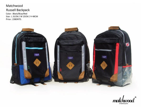 { POISON } MATWOOD RUSSELL BACKPACK 後背包OUTDOOR美式休閒 17吋筆電夾層
