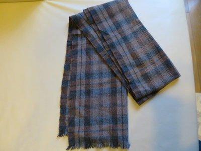 [熊熊之家3] 保證全新正品 Dolce&Gabbana DG 咖啡格紋 圍巾 100% cashmere