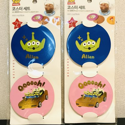 全新 韓國代購 迪士尼 Disney Toy Story 反斗奇兵 三眼仔 杯墊 一套兩塊 現貨(可旺角門市自取)
