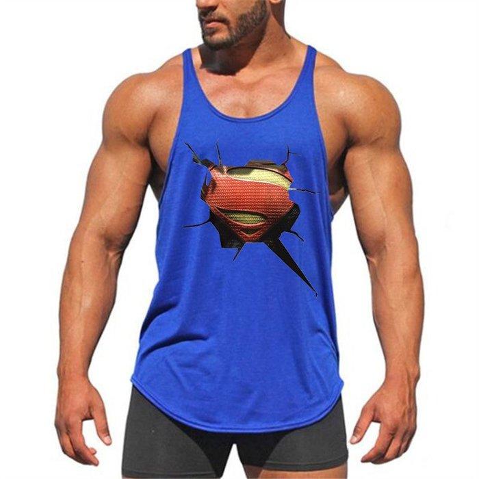 T89 實穿照 爆破S英雄 細肩帶 背心 健身背心 重訓背心 男生背心 低胸背心 挖背背心 健身服飾 運動服飾