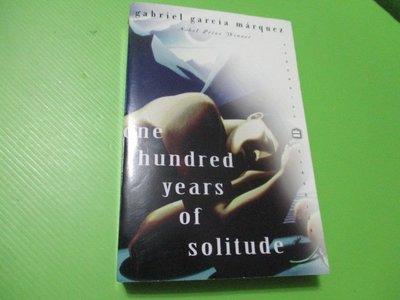 【大亨小撰~古舊書】one hundred years of solitude(百年孤寂英譯本) // 1998年出版