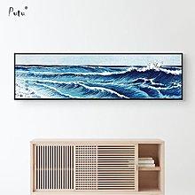 浮世繪裝飾畫日式餐廳現代簡約客廳海浪海景風景日式裝飾掛畫
