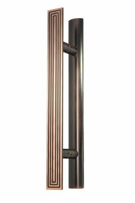 『YT五金』大門把手 CY-K952 古銅色 白鐵毛絲 黑色 大把手 室內外把手 簡約風格 金屬風格 推拉門 店面款
