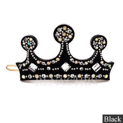 BHI177-法國品牌RenaChris 施華洛世奇晶鑽閃亮皇冠髮夾 扣夾 邊夾-附原裝包裝盒