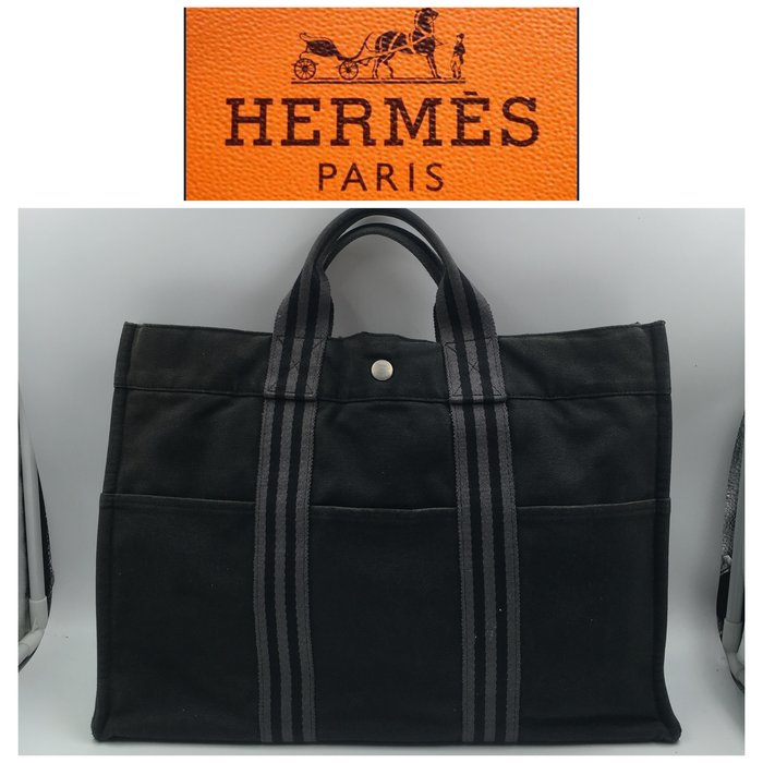 【皮老闆二店】二手真品 Hermes 手拿包 愛馬仕 帆布包 電腦包 公司包  A04
