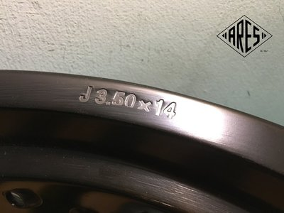 【ARES】14寸 3.5J 36孔 特訂製 鋁合金鋼絲框 裸框 #MY150 #My125 小尺寸檔車改裝使用