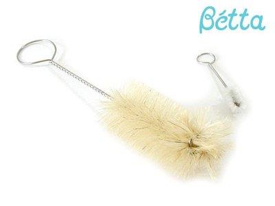 [日本製全新現貨] Betta 哺乳瓶白馬毛刷具組 奶瓶刷+奶嘴刷