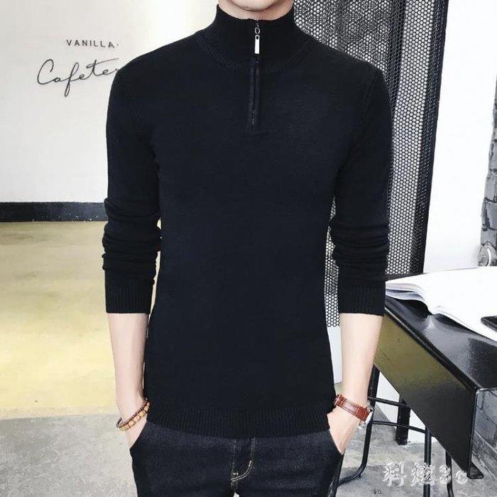 打底衫 男士修身半高領毛衣韓版修身針織衫秋冬季保暖中大尺碼男裝 js16617