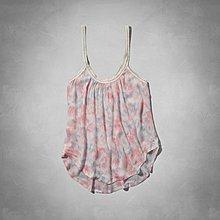 Maple麋鹿小舖 Abercrombie&Fitch * AF 粉色細肩帶針織花花上衣 * ( 現貨M號 )