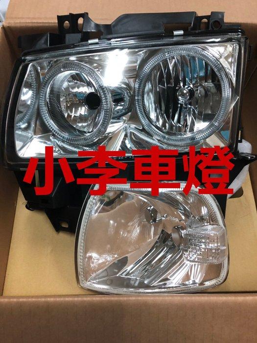 ~李A車燈~全新品 外銷精品件 福斯 T4 98 99 00 01年 玻璃晶鑽 燻黑光圈大燈組 含角燈 一組8000元1