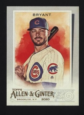 2020 Topps Allen and Ginter #15 Kris Bryant - Chicago Cubs