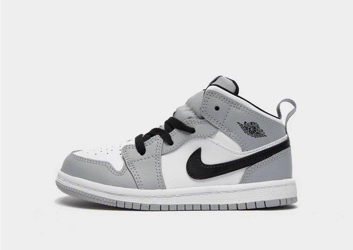 南 2020 8月 AIR JORDAN 1 AJ1代 灰色 喬丹  童鞋 小童鞋 白灰 灰白色 喬丹