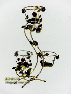 【DYL】卡提爾鍛鐵企鵝花架(門市自取...