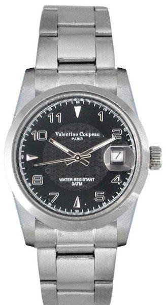 (六四三精品)Valentino coupeau(真品)(全不銹鋼)精準男錶(附保証卡)12168SM-24