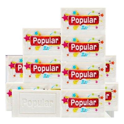 ❀晴天小站❀ 190克泡飄樂POPULAR嬰兒衣服尿布洗衣皂6塊原裝進口不含熒光劑G5K37