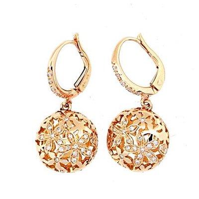 【JHT 金宏總珠寶/GIA鑽石專賣】0.58ct天然鑽石造型耳環/材質:18K(JB43-A28)