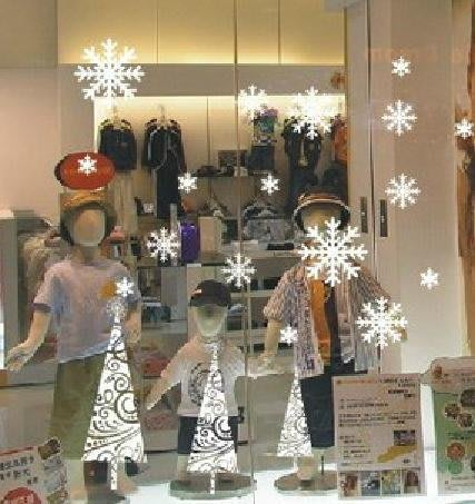 小妮子的家@聖誕雪花二 壁貼/牆貼/玻璃貼/磁磚貼/汽車貼/家具貼