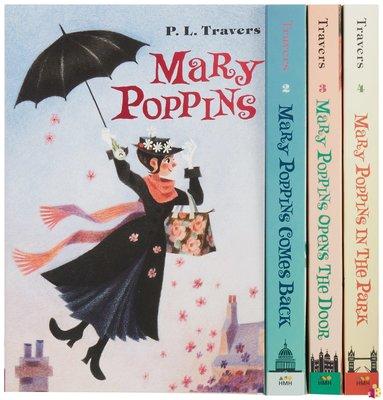 [文閲原版]歡樂滿人間4冊套裝 英文原版 科幻文學小說書籍 Mary Poppins Boxed Set Harcourt Brace