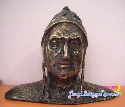 ((天堂鳥)) 義大利詩人旦丁銅像