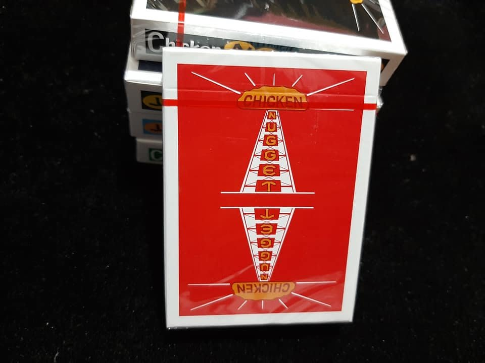 【天天魔法】【G003】正宗原廠~(限量)(暗紅)雞塊牌~Chicken Nugget Playing Cards~簡子