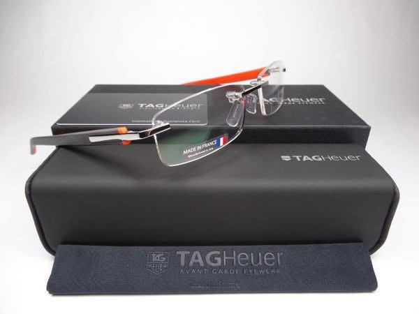 信義計劃 眼鏡 豪雅 TAG Heuer 彈簧無框 rimless 8108 法國製 搭配瑞士豪雅錶 超越詩樂
