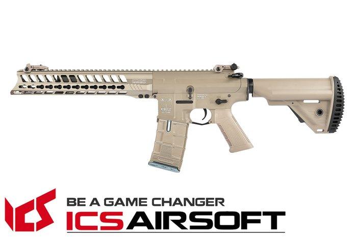 【翔準軍品AOG】ICS CXP-YAK CQB(沙)S1托 EBB Keymod 全金屬 電動 生存遊戲 IMT-41