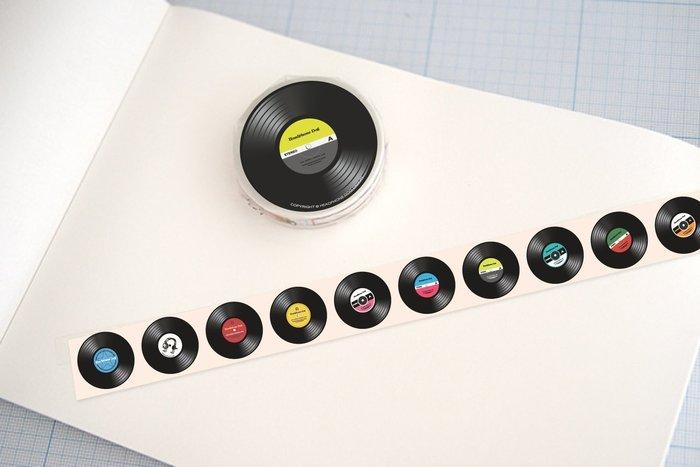 音樂黑膠唱片 紙膠帶(一共有670幾個黑膠唱片)1.5x1000cm