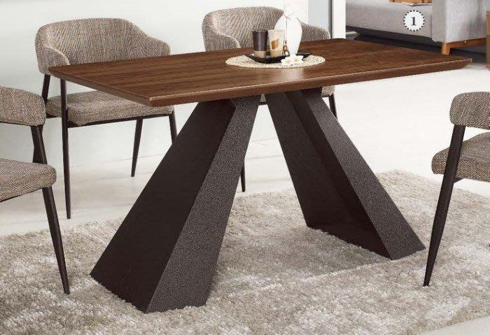 【DH】貨號G954-1商品名稱《尼丹史》4.3尺餐桌(圖一)不含餐椅。質感一流˙簡約設計˙主要地區免運