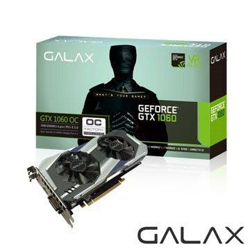 [信達電腦] 影馳 GALAX GTX 1060 OC 6GB 顯示卡