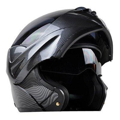 2019最新款銷歐卡夢碳纖外觀全覆卡可樂帽雙鏡片可全掀夏天涼爽全罩式 安全帽 越野 BWS 勁戰 cuxi 雷霆FIGH