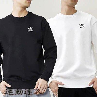 『運動達人』Adidas 愛迪達 三葉草 情侶圓領衛衣 時尚浪漫 運動健身 外套W3928