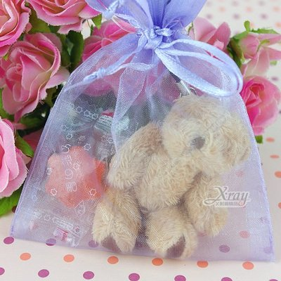 X射線節慶王【Y110006】婚禮小物組49(方型紗袋+熊+糖果),送客糖果袋/喜糖盒/紗袋/婚禮小物