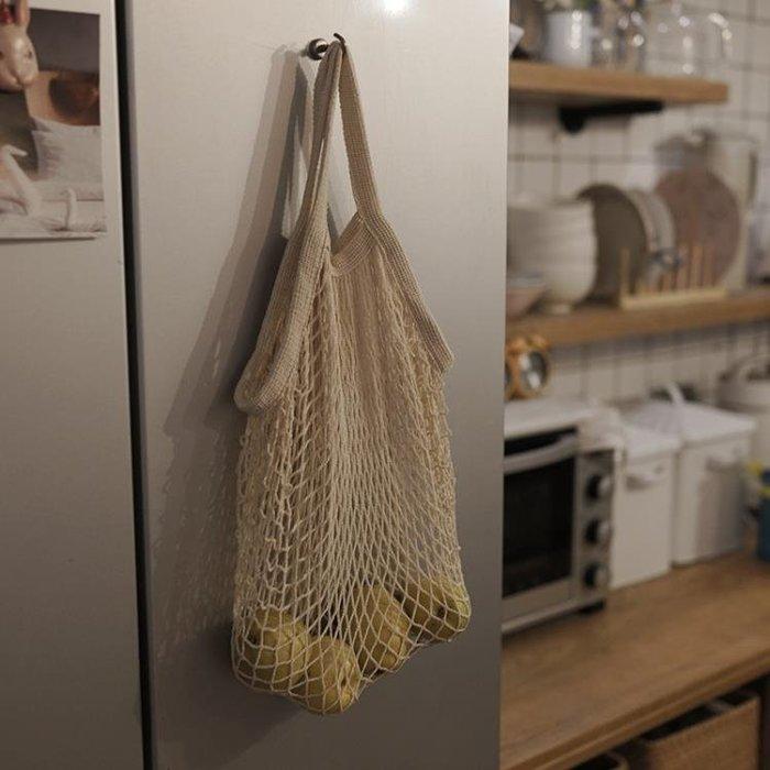 黑五購物節樸房 INS網紅編織購物袋 純棉網兜 水果購物袋 手提單肩鏤空網袋