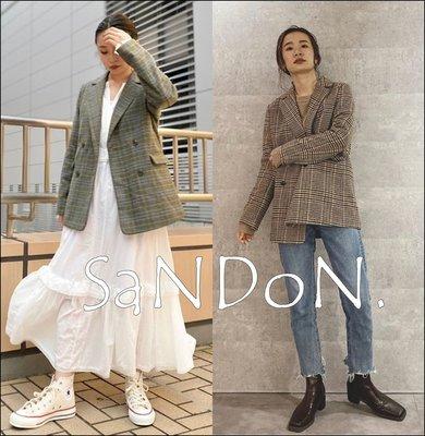 SaNDoN x『UNGRID』各一件 官網全數完售格紋復古開叉袖口設計西裝中長板外套 SLY 200926