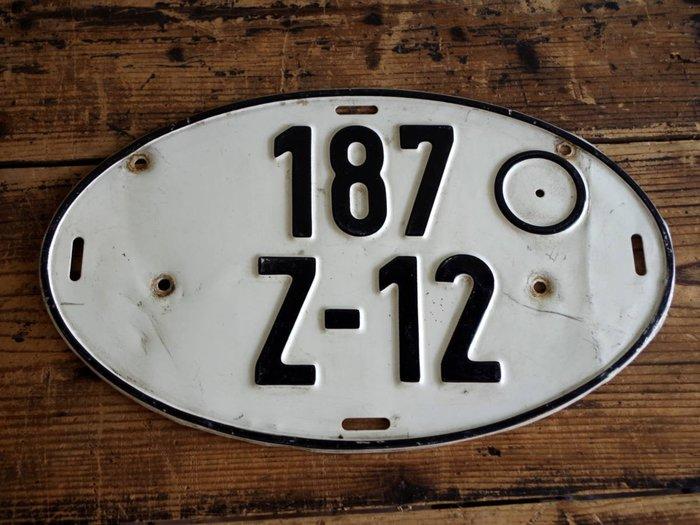 中古正品 德國汽車大牌 歐盟車牌( 鋁牌) 1980年代 出口車輛專用牌照 187