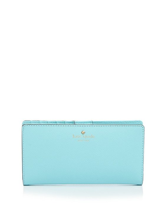 Coco小舖 kate Spade mikas pond stacy wallet  水藍色