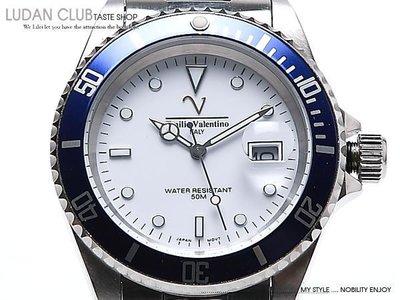 【全館折扣】 水鬼錶 白色 Emilio Valentino 范倫鐵諾 防水 耐刮 不過敏 v6602u 手錶