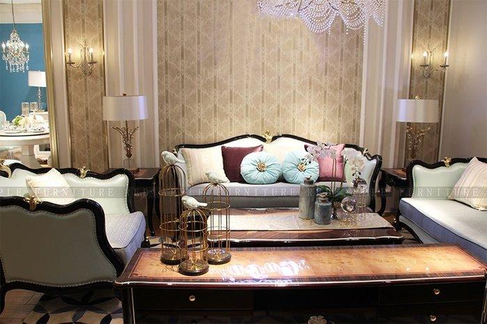 [紅蘋果傢俱] 8601  歐式輕奢 沙發系列 皮沙發 沙發組