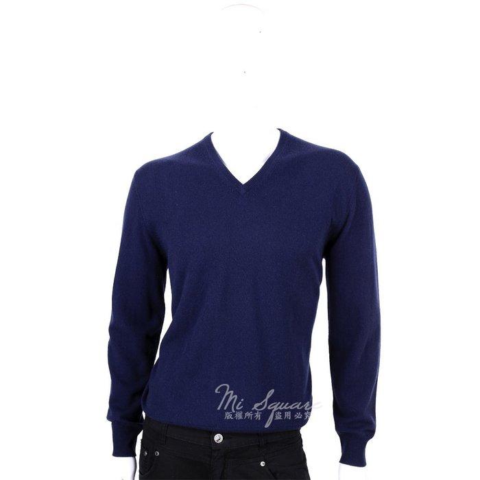 米蘭廣場 ALLUDE 100% CASHMERE 素面V領毛衣(深藍色) 1440551-34