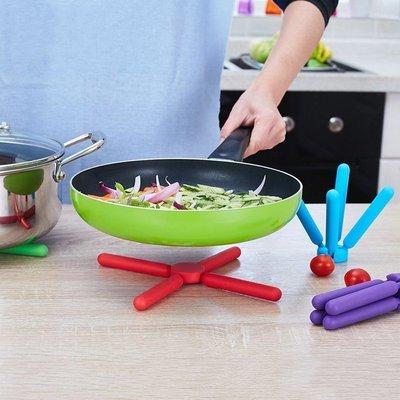 桌墊 餐巾 隔熱墊 餐布 杯墊創意硅膠隔熱墊十字折疊耐熱墊防燙鍋墊廚房餐墊桌墊盤杯墊菜墊