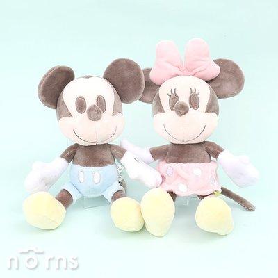 【日系淺色米老鼠全身娃娃7.5吋】Norns 迪士尼正版 米奇米妮 絨毛玩偶